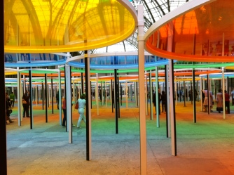 Excentrique(s) by Daniel Buren, at the Grand Palais, 2012