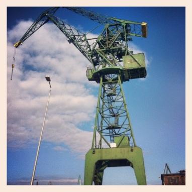 Crane, Gdansk shipyards