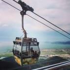 Cablecar over Hong Kong International Airpot