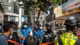 July 1 protest Causeway Bay 2021