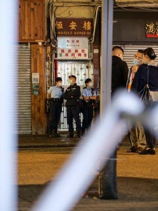 Sham Shui Po ambush lockdown, February 8, 2021